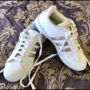 Adidas Cloudfoam Advantage Stripe Sneakers Shoes 8
